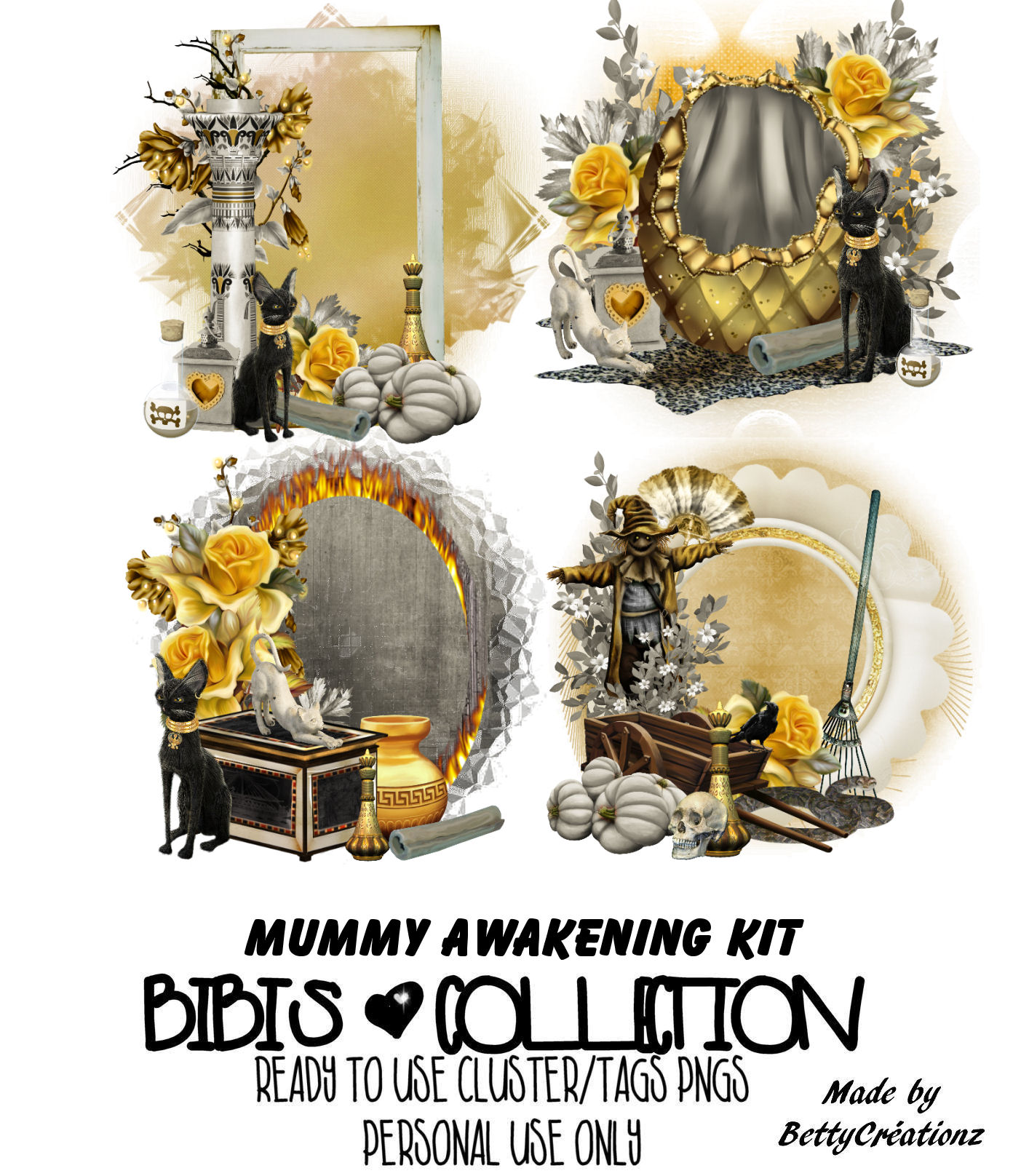 MUMMY AWAKENING READY CLUSTER TAGS PNG